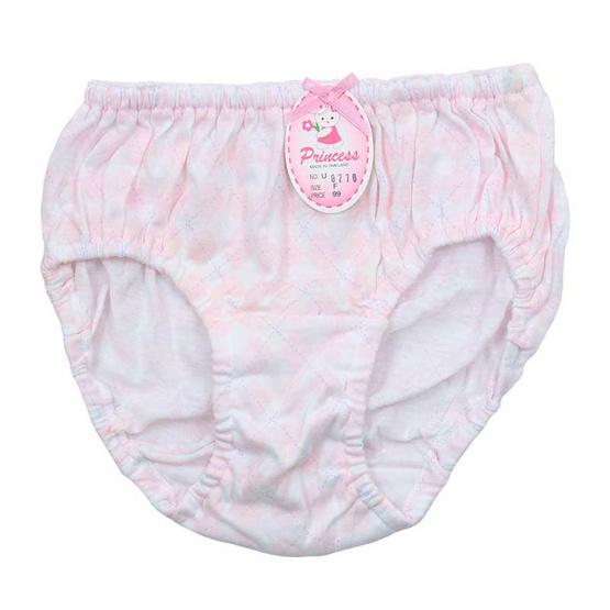Princess Bra กางเกงชั้นในเด็กยางสอดพิมพ์ลายสก็อตข้าวหลามตัด คละสี แพ็ค 3
