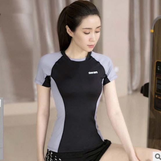 SIBOON เสื้อออกกำลังกาย SB Sport สีดำ