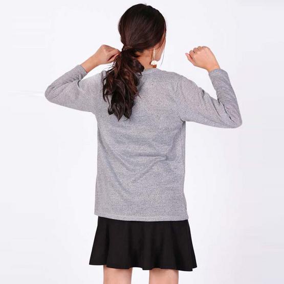 MIX ON เสื้อคลุมคาร์ดิแกน D-OUT-002 สีเทา