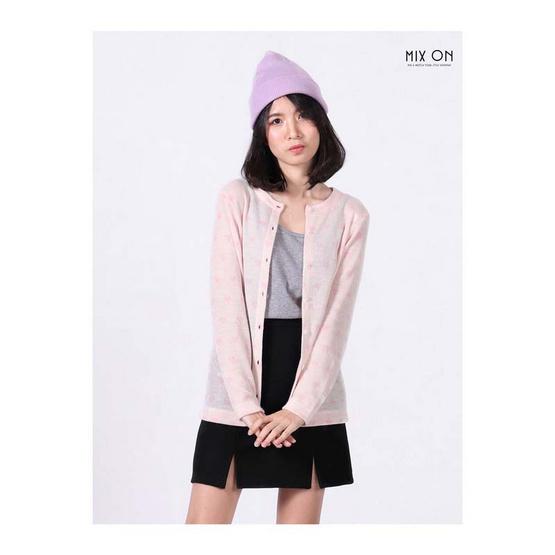 MIX ON เสื้อคลุมคาร์ดิแกน D-OUT-021 สีชมพู