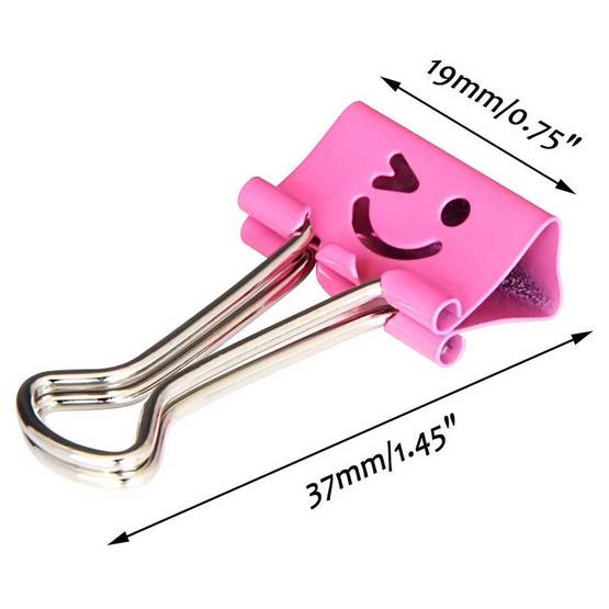 Deli คลิปหนีบกระดาษ 19 มม. ลายยิ้ม คละสี (กล่อง 40 ชิ้น)