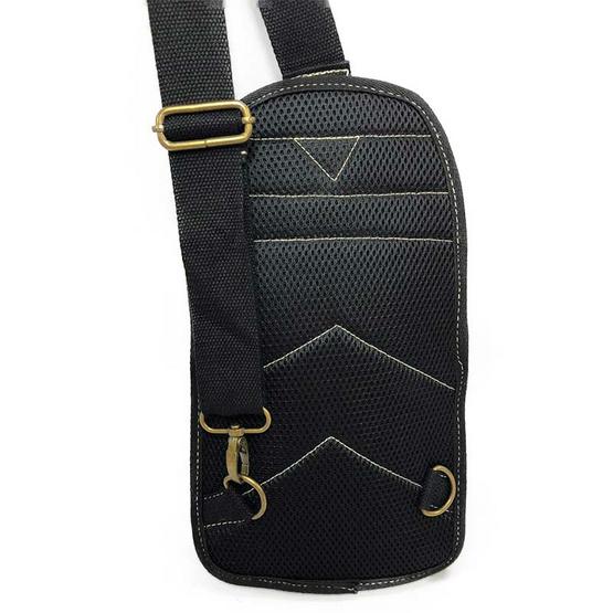 Dolphin bag กระเป๋าคาดอก B814 สีดำ