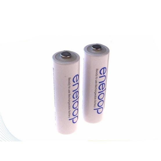 eneloop Rechargeable Battery ถ่านชาร์จ AA - White (2 ก้อน/แพ็ค) รุ่น BK-3MCCE/2NT