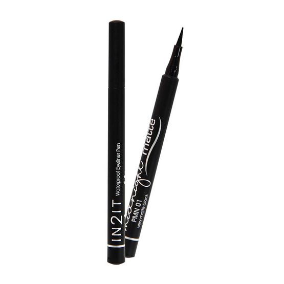 IN2IT Waterproof Eyeliner Pen Midnight Matte #PMN01 very matte black 1 g