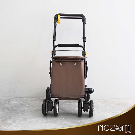 NOZOMI รถเข็นช่วยพยุงเดิน รุ่น YX-300 สีน้ำตาล