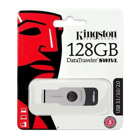 Kingston Flash drive DataTraveler SWIVL USB 3.0 128 GB
