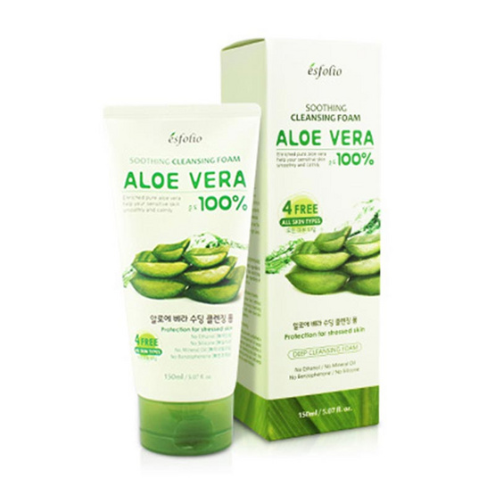 Esfolio Aloe Vera Soothing Cleansing Foam 150 ml