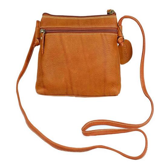 MOONLIGHT กระเป๋าหนังวัวแท้ ฟอกแบบชาวมัวร์ รุ่น Mino สีน้ำตาลอ่อน