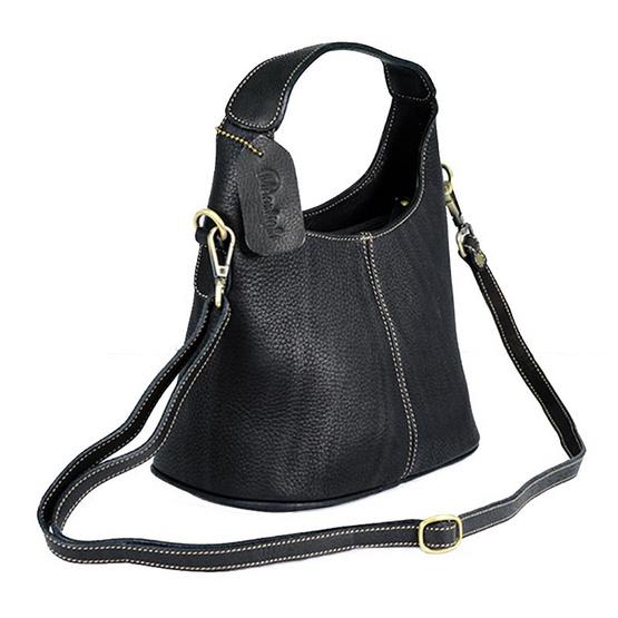 MOONLIGHT กระเป๋าถือหนังแท้ สำหรับสุภาพสตรี รุ่น Marisa สีดำ