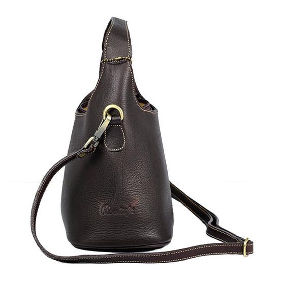 MOONLIGHT กระเป๋าถือหนังแท้ สำหรับสุภาพสตรี รุ่น Marisa สีน้ำตาลเข้ม