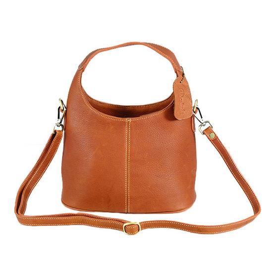 MOONLIGHT กระเป๋าถือหนังแท้ สำหรับสุภาพสตรี รุ่น Marisa สีน้ำตาลอ่อน