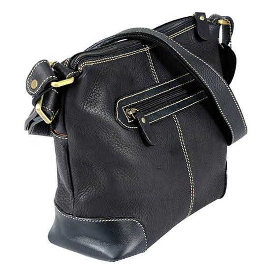 MOONLIGHT กระเป๋าสะพายหนังแท้ สำหรับสุภาพสตรี รุ่น Lite สีดำ