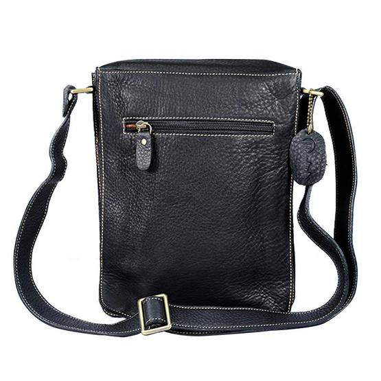 MOONLIGHT กระเป๋าสะพายหนังแท้ สำหรับผู้ชาย รุ่น Boy สีดำ