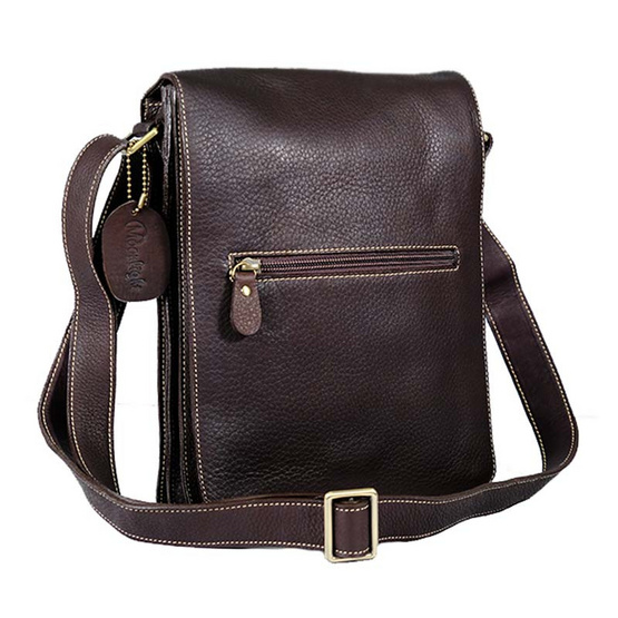 MOONLIGHT กระเป๋าสะพายหนังแท้ สำหรับผู้ชาย รุ่น Boy สีน้ำตาลเข้ม