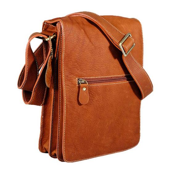MOONLIGHT กระเป๋าสะพายหนังแท้ สำหรับผู้ชาย รุ่น Boy สีน้ำตาลอ่อน