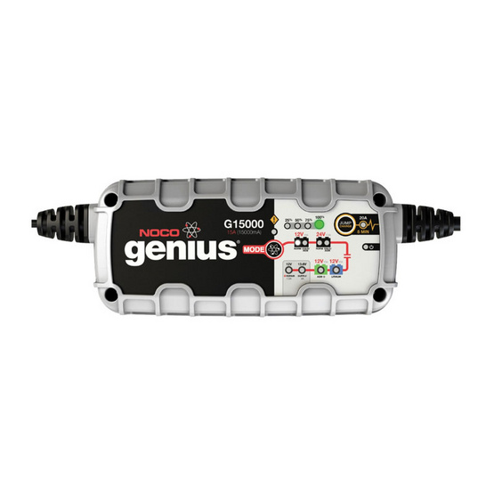 NOCO Genius เครื่องชาร์จแบตเตอรี่อัจฉริยะ G15000 15A (15000mA)