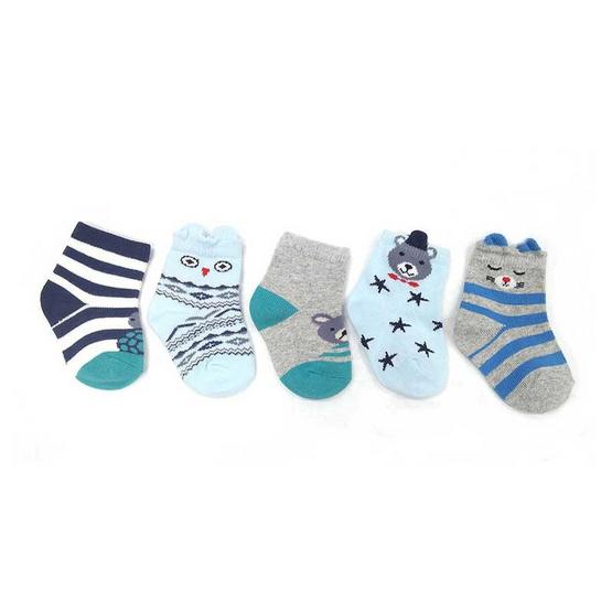Blueberry Bon Bon ถุงเท้าเด็ก ลาย แมว คละสี