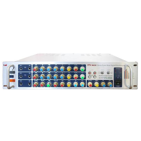 MC ROCK Stereo Power Mixer Digital Echo Karaoke รุ่น STA-DR200