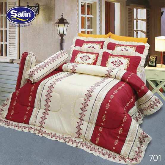 Satin ผ้าปูที่นอน 5ชิ้น 701