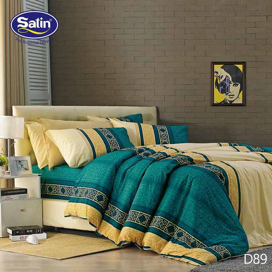 Satin ผ้านวม + ผ้าปูที่นอน ลาย D89