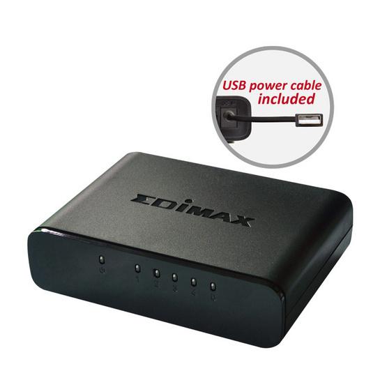Edimax ES-3305P V2 5-Port Fast Ethernet Desktop Switch