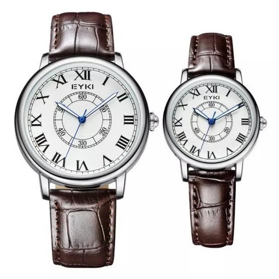 EYKI นาฬิกาข้อมือคู่รัก สายหนัง รุ่น E-8856