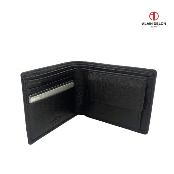 Alain Delon กระเป๋าธนบัตร หนังวัวแท้ 100% สีดำ