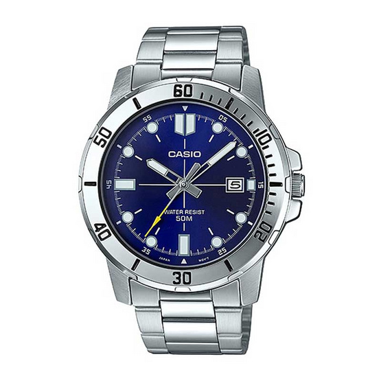 Casio นาฬิกาข้อมือ รุ่น MTP-VD01D-2EVUDF