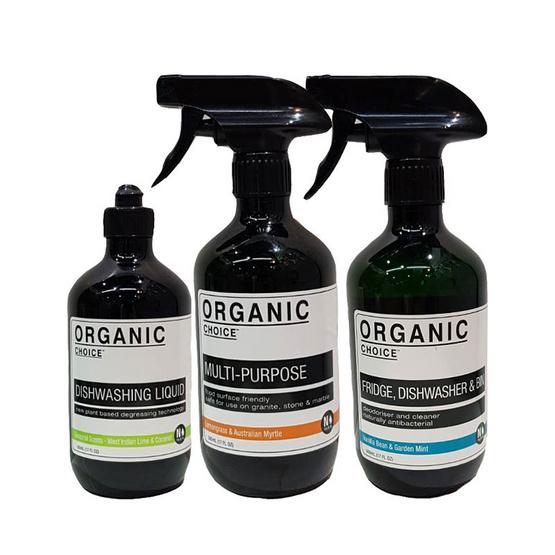 Organic Choice ออร์แกนนิค ชอยซ์ ดิชวอชชิ่ง ลิควิด เวสท์อินเดียน ไลม์ & โคโคนัท + มัลติเพอร์โพส คลีนเนอร์ + ฟริดจ์ ดิชวอชเชอร์ & บิน คลีนเนอร์