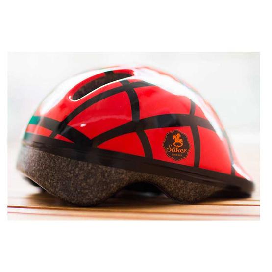 Saker หมวกกันน็อคเด็ก แดงคาดดำ