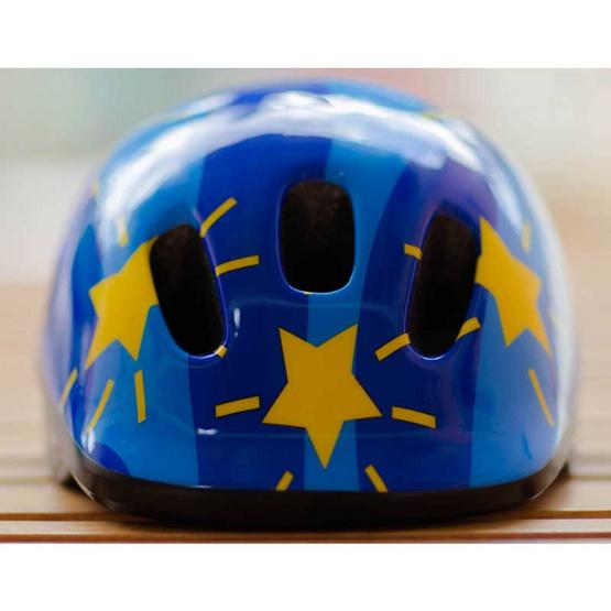 Saker หมวกกันน็อคเด็ก สีฟ้าลายดาว