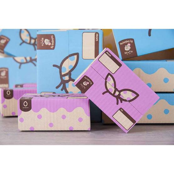 Bento กล่องไปรษณีย์ 9 x 14 x 6 ซม. Size 0 สีม่วง (แพ็ค 20 ใบ)