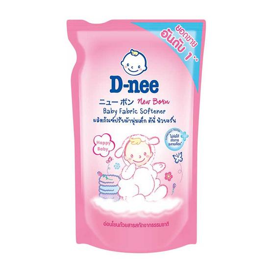 D-nee ปรับผ้านุ่มเด็ก 600 มล. ถุงเติม สีชมพู