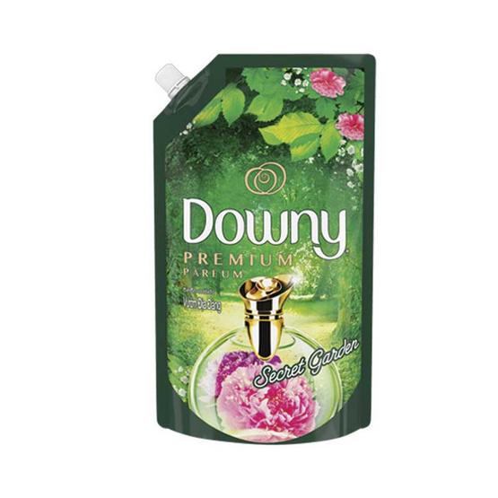 Downy ปรับผ้านุ่ม กลิ่นซีเคร็ทการ์เดน 1300 มล. ถุงเติม สีเขียว