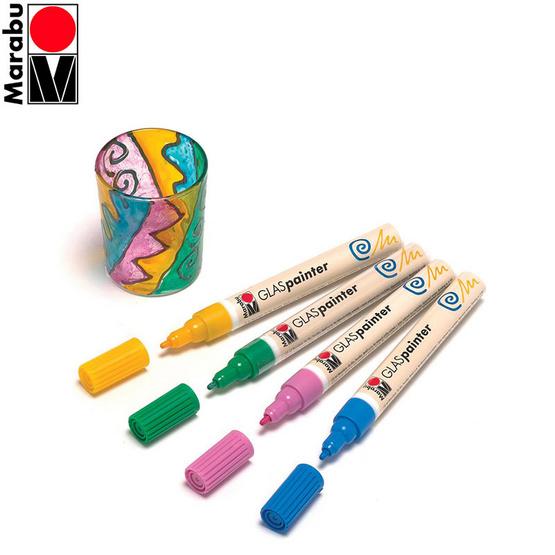 Marabu ปากกาเพ้นท์กระจก ขนาด 1-2 มม.