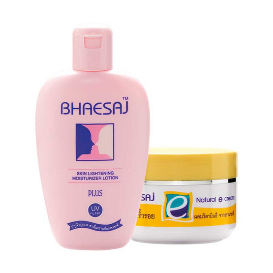 BHAESAJ เภสัช Natural E Cream 30 กรัม + สกิน ไลท์เทนนิ่ง 70 มล.