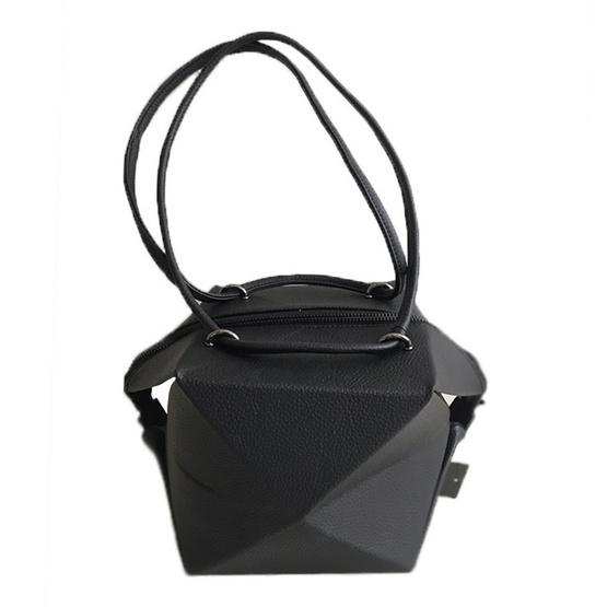 FQ&L  กระเป๋าหนัง PU พับได้ทั้งหมด 3 ทรง สี ดำ( FAPAI-002-W9-OF )