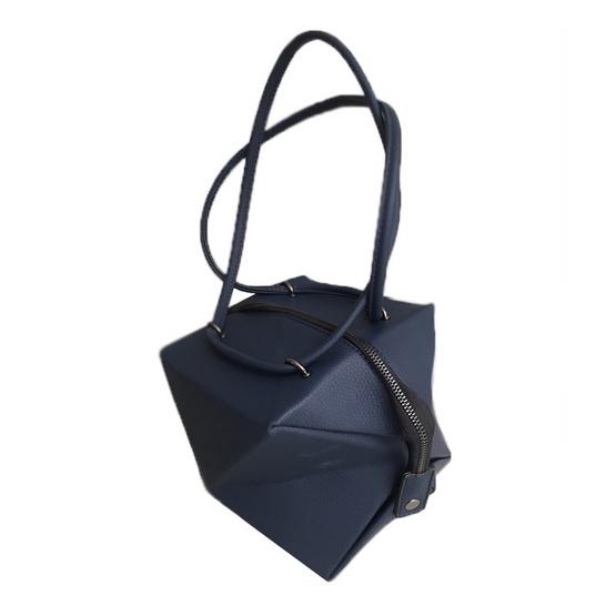 FQ&L  กระเป๋าหนัง PU พับได้ทั้งหมด 3 ทรง สี น้ำเงิน ( FAPAI-002-S9-OF )