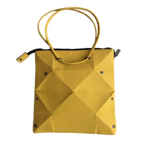 FQ&L  กระเป๋าหนัง PU พับได้ทั้งหมด 3 ทรง สี เหลือง ( FAPAI-002-Y7-OF )