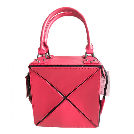 FQ&L   กระเป๋าหนัง PU พับได้ทั้งหมด 3 ทรง สี แดง ( FAPAI-003-R3-OF )
