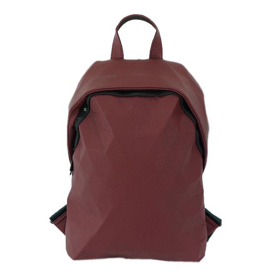 FQ&L  กระเป๋าเป้หนัง PU  สี RED  ( FAPAI-004-R9-OF )