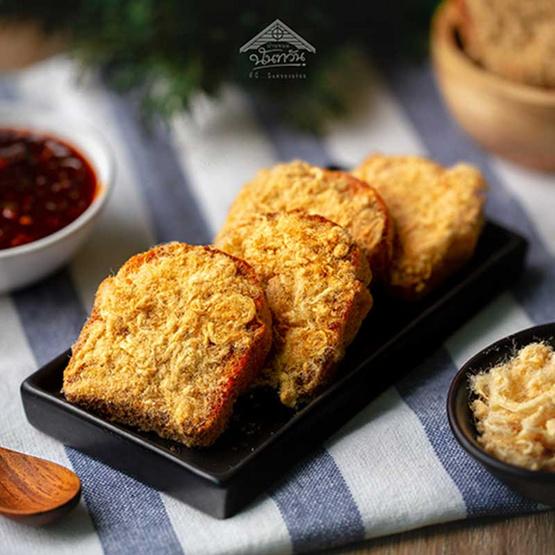 บ้านขนมนันทวัน ขนมปังกรอบน้ำพริกเผาไก่หยอง (แพ็ค 2)