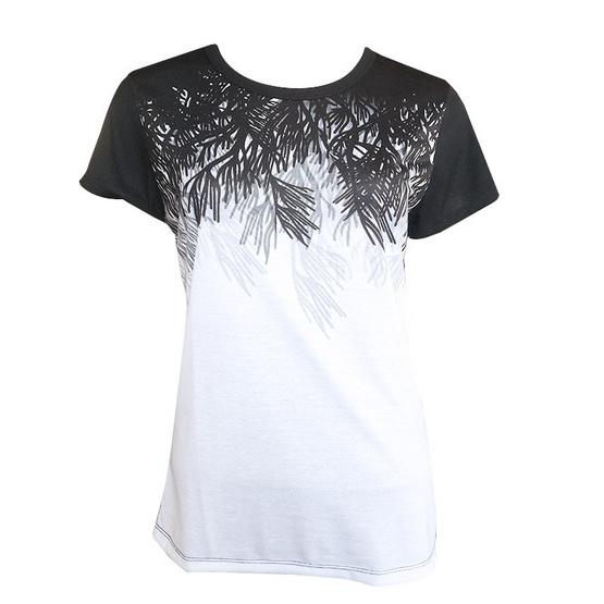 FQ&L  เสื้อยืดพิมพ์ลาย (FLTAI-006-W9-OF) สีดำ