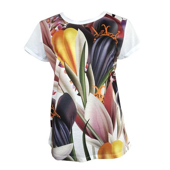 FQ&L  เสื้อยืดพิมพ์ลาย ( FLTAJ-003-W0-OF ) สีขาว