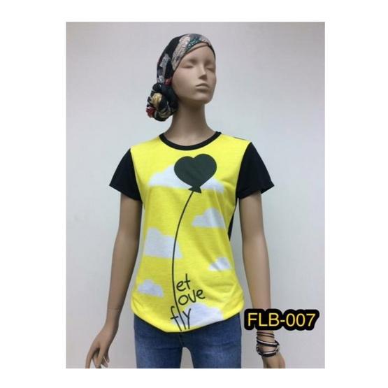 FQ&L  เสื้อยืดพิมพ์ลาย ( FLTLB-007-W9-OF ) สีดำ