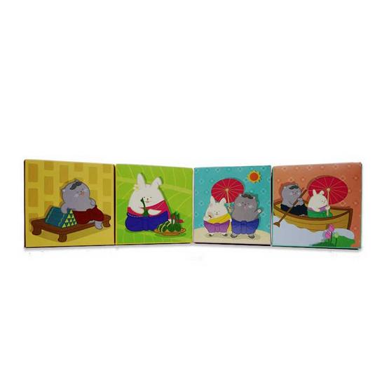 Double A กล่องคิวบิกโน้ต ลายไทยยิ้ม คละลาย 600 แผ่น/กล่อง (แพ็ค 4 กล่อง)