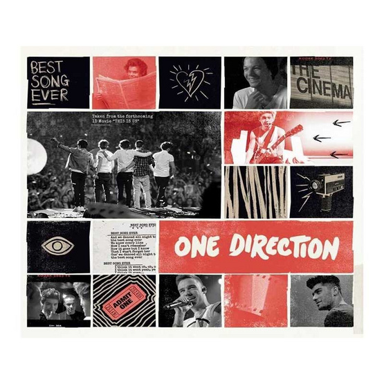 CD ONE DIRECTION Album BEST SONG EVER  (single)