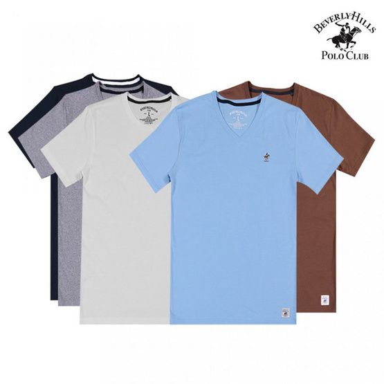 Beverly Hills เบเวอร์รี่ ฮิลส์ เซ็ทเสื้อยืด 5 ตัว 5 สี