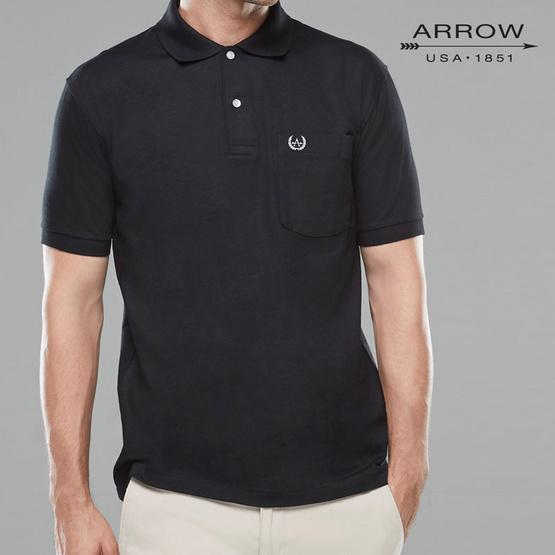ARROW เสื้อโปโล สีดำ ทรง COMFORT