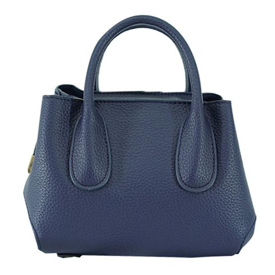 FQ&L กระเป๋าหนัง PU มีสายยาวสะพายข้าง 2 สาย สีน้ำเงิน (FAPAF-004-S7-OF)